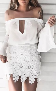 all white everything: boho dress