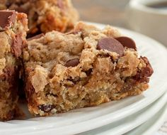 Oatmeal Cinnamon Chocolate Chip Bars - The smooth, creamy, milk chocolate flavor of the chips along with the cinnamon and nutmeg are very more-ish.