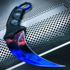 TACTICAL KARAMBIT KNIFE Hunting BOWIE Fixed Blade Doppler MARBLE FADE FIRE ICE