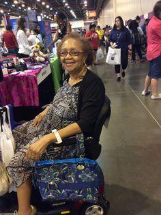 The Royal Blue Lumina... a classy bag for a classy lady! (2015 Houston Abilities Expo)
