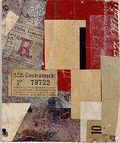 kurt schwitters collage, art, mixed media
