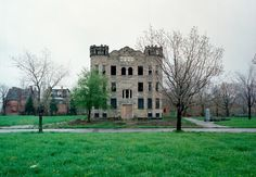 """Abandoned Houses"""" is a personal project by Denver-based photographer Kevin Bauman, capturing abandoned structures in his hometown Detroit. """"The abandoned houses project began innocently… Abandoned Detroit, Old Abandoned Buildings, Abandoned Castles, Abandoned Mansions, Old Buildings, Abandoned Places, Beautiful Buildings, Beautiful Homes, Desert Places"""