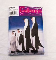 Penguin Costumes Simplicity 3639  UNCUT  Child Teen Youth Adult All Size Family #Simplicity