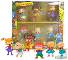 Nickelodeon's Nicktoons Rugrats 2 Inch 6 Pack Mini Figure Including Tommy , Susie , Angelica , Chucky , Pil and Lil Rugrats All Grown Up, Chucky, Ag Dolls, 6 Packs, Packing, Toys, Mini, Amazon, Bag Packaging