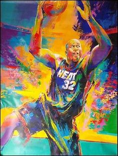 """Malcolm farley """"shaquille o'neal"""" #basketball player #original #paintings canvas, View more on the LINK: http://www.zeppy.io/product/gb/2/370827993787/"""
