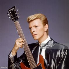 English musician David Bowie is photographed for Self Assignment on January 15 1984 in Los Angeles California