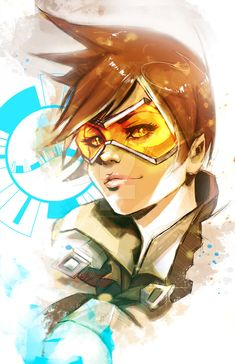 Tracer by VVernacatola on DeviantArt Overwatch Fan Art, Overwatch Mercy, Overwatch Comic, Overwatch Females, Overwatch Wallpapers, Heroes Of The Storm, Inspirational Artwork, Fanart, Video Game Art