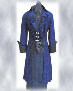 Steampunk Wedding Tuxedo Style frock coat- Gothic Pirate. $375.00, via Etsy.