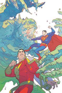 Shazam! and Superman by Joshua Middleton