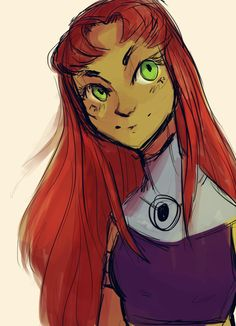 starfire Teen Titans Characters, Teen Titans Fanart, Teen Titans Go, Disney Characters, Fictional Characters, Teen Titans Starfire, Dc Comics Girls, Young Justice, Marvel Dc