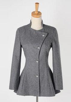 Asymmetric Fit-and-flare Blazer - Grey - Tuxedo Back Hem... maybe I can make it?