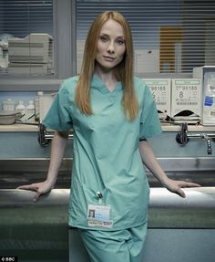 image rosie is best known for her role as jac naylor in holby city Bbc Casualty, Hospital Tv Shows, Holby City, Medical Drama, Marcel, Redheads, Actresses, Shirt Dress, Celebrities