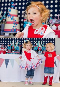 4th of July - some cute ideas (but way too over the top)