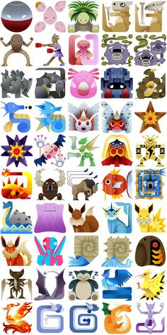 PokeMonster Hunter Icons 3 by Gryphon-Shifter.deviantart.com on @deviantART