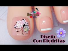 Pretty Toe Nails, Pretty Toes, Cute Nails, Pedicure Spa, Pedicure Nails, Manicure, Nail Salon Design, Bride Nails, Nail Art Videos
