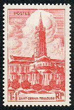 Toulouse - La Cathédrale Saint Sernin - Timbre de 1947