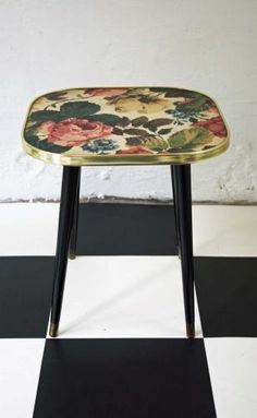 Floral side table