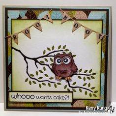 Little Whoot card by Kerry Kung