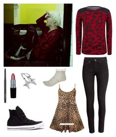 """""""G Dragon Crooked Outfit"""" by sakurano-on-nanoko on Polyvore featuring H&M, River Island and MAC Cosmetics"""