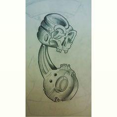 Biela e pistão Indisponível. #tattoo #tatuagem #blackangrey #sketch #lines #blackwork #shadowwork #ink #biela #pistao #cartattoo #carro #motor