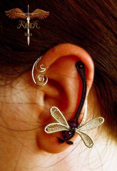 Dragonfly Earcuff by alina-loreley.deviantart.com on @deviantART