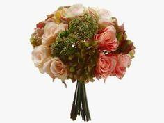 11ʺ Hydrangea/Rose/Sedum Bouquet - Vintage Market And Design