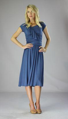 Men clothing.com ruffle dress in Egyptian blue