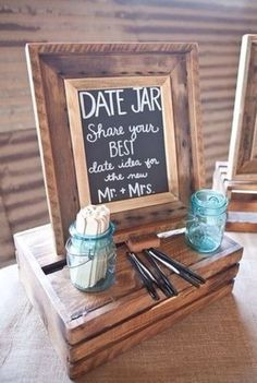Cute idea for your reception!