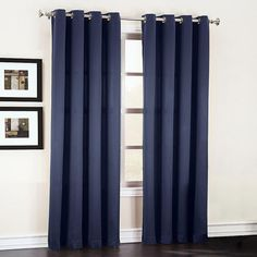 Sun Zero Galia Grommet Room Darkening Window Curtain Panel (Navy Blue, Size 54 x 84 (Polyester, Solid) Grommet Curtains, Blackout Curtains, Drapes Curtains, Space Furniture, Furniture For Small Spaces, Room Darkening Curtains, Outdoor Lounge Furniture, Fashion Room, Lights