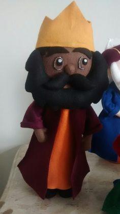 Rei mago -Belchior presépio em feltro