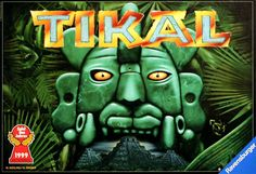 Tikal is a game of exploration within the Central American jungles in search of lost temples and the treasures within. Players send their team of explorers into the jungle, exposing more and more of the terrain.  Along the way, you find temples that require further uncovering and treasures.  Players attempt to score points for occupying temples and holding onto treasure.  Tikal is the first game of the Mask Trilogy.  Sequel:       Tikal II: The Lost Temple