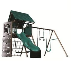 LIFETIME PRODUCTS A-Frame Residential Metal Playset with Swings