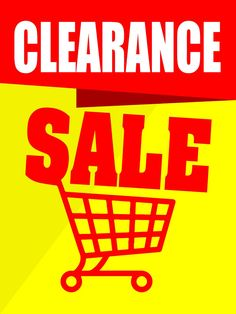 """Clearance Sale Business Retail Display Sign, 18""""w x 24""""h, Full Color"""