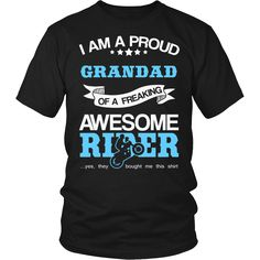 """Now Available at Our Store: """"Proud Grandad of.... Free Shipping. Check It Out: http://thingsiwannasay.com/products/proud-grandad-of-an-awesome-motocross-rider-t-shirt?utm_campaign=social_autopilot&utm_source=pin&utm_medium=pin"""