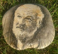 Johannes, Stone, Outdoor Decor, Portraits, Animals, Home Decor, Pictures, Painting On Stones, Draw