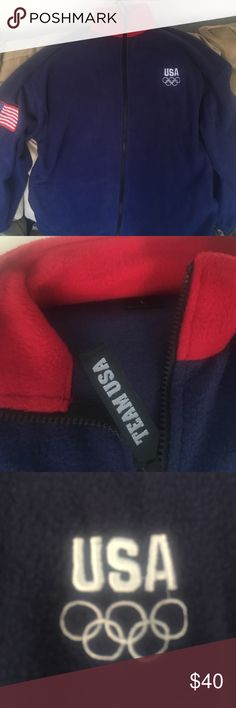 Vintage team USA fleece zip up Brand new fleece with sewn USA patch and embroidered USA Olimpic logo Sweaters Zip Up