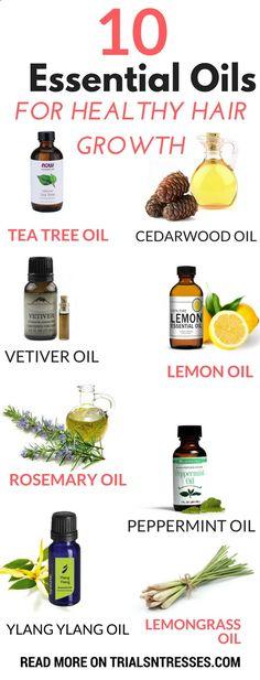 10 essential oils for healthy hair growth!