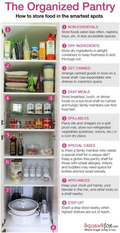 Thinking about how you'll organise your pantry can help you design it before you build it. Here's some thoughts to consider for which shelf to put which items on, which will also optimise your pantry space, to help you think about it not being too small or so oversized you never use half of it and could have used the extra space for something else.    by The Nest Effect