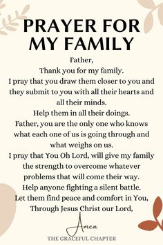 Prayer Scriptures, Bible Prayers, Faith Prayer, Prayer Quotes, Faith Quotes, Family Bible Verses, Easter Prayers, Catholic Prayers, Prayer For My Family