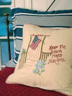 I love this pillow...too bad I can't complete a project this would be cute on the porch