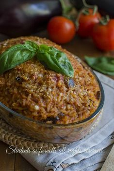 Pizza E Pasta, Rice Pasta, Rice Recipes, Cooking Recipes, Salty Foods, Rice Dishes, Italian Recipes, Food To Make, Good Food