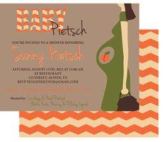 peach baby shower invitations - Google Search