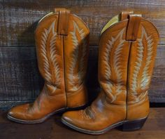 ABILENE Cowgirl Rust Brown Leather Western Rodeo Cowboy Boots Women's Size 6.5M #Abilene #CowboyWestern #Casual