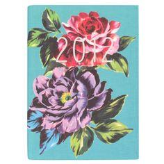 Aqua Floral 2012 Diary