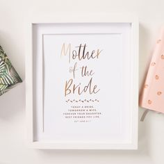 Personalised 'Mother Of The Bride' Wedding Foil Print by Lily Rose Co., the perfect gift for Explore more unique gifts in our curated marketplace. Mother Of The Groom Gifts, Mother Gifts, Mother Of The Bride, Dream Wedding, Wedding Favora, Wedding Ideas, Wedding Abroad, Wedding Wishes, Wedding Card