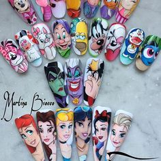 MyCartoons. #nails #nailsart #nailart #nailartist #naildesign #nailswag #shoutout #indigo #paint #painting #passion #lovenails #cartoon #cartoons #disney #disneyland #nailaddict #nailfashion #nailpolish #nailporn #pretty #style #fantasy #girl #instanails #instalove #instalike #instafollow #instacool #photooftheday