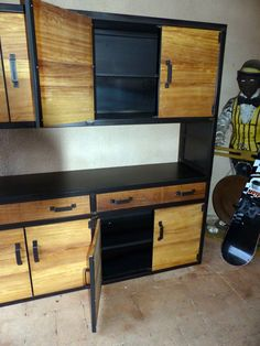 Welded Furniture, Steel Furniture, Plywood Furniture, Industrial Furniture, House Furniture Design, Home Decor Furniture, Furniture Makeover, Furniture Decor, Recycled Kitchen