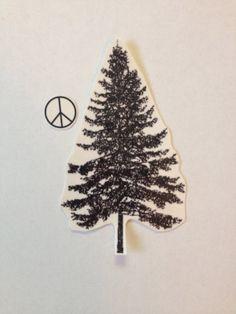 Pine Tree Temporary Tattoos SmashTat by SmashTat on Etsy $5