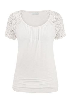 crochet short sleeve tee (original price, $29) available at #Maurices
