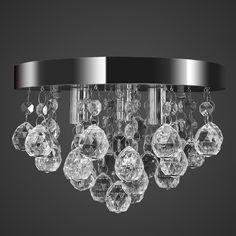 Deckenleuchte Kronleuchter Deckenlampe Kristall Design Chrom Lampe Leuchte